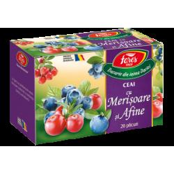 Ceai Afine si Merisoare 20 plicuri Fares