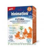 Minimartieni Futura crestere si dezvoltare 3-6 ani 30 tablete masticabile copii Walmark