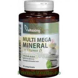 Multi mega mineral cu vitamina D 90 comprimate VITAKING