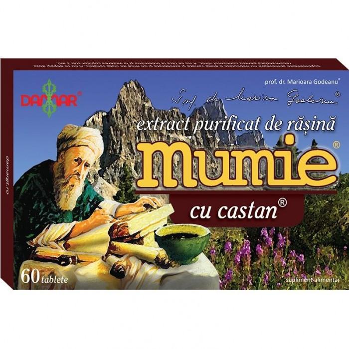 Mumie cu Castan extract purificat de rasina 60 tablete Damar