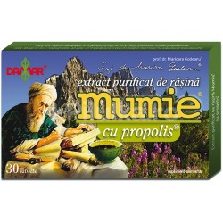 Mumie Extract Purificat de Rasina Mumie cu Propolis 30 cpr DAMAR