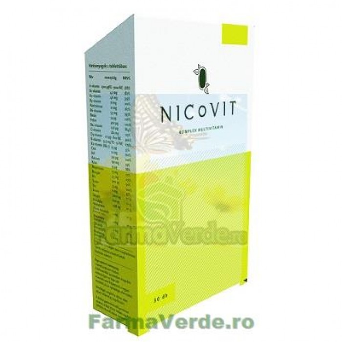 NICOVIT Multivitamina cu minerale si plante medicinale 30 comprimate Vitaking