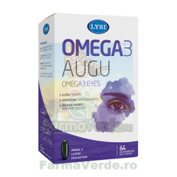 Omega-3 Ochi Sanatosi  64 capsule LYSI SAGA Sanatate