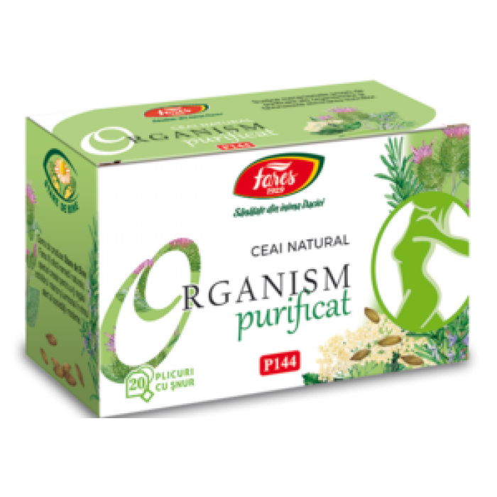 Ceai Organism Purificat detoxifiant 20 plicuri Fares