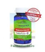 Parasites 12 Detox Forte Elimina Parazitii 60 capsule Herbagetica