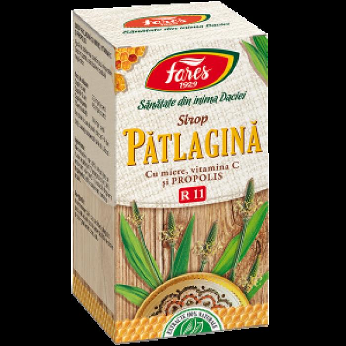 Sirop Patlagina cu miere si propolis 100 ml Fares