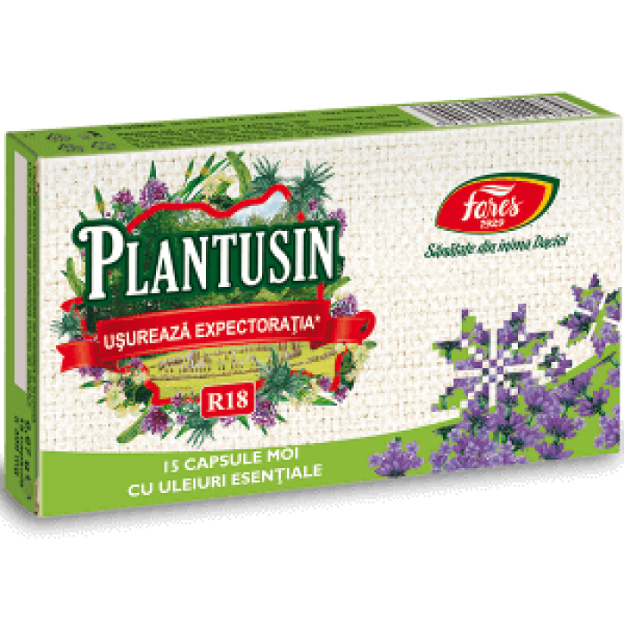 Plantusin Usureaza Expectoratia R18 15 capsule Fares