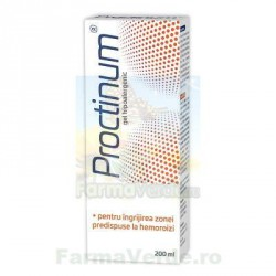 Proctinum gel hipoalergenic pentru igiena ano-rectala hemeoroizi 200 ml Zdrovit