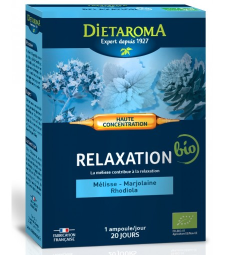 Relaxare BIO 20 fiole Stres,Liniste,Antidepresiv Dietaroma France