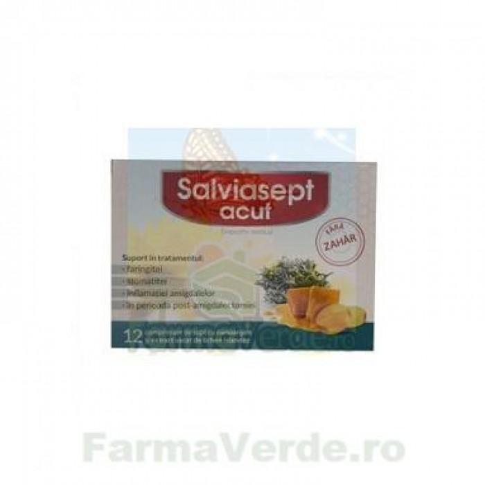 Salviasept ACUT fara zahar 12 comprimate Natur Produkt Zdrovit