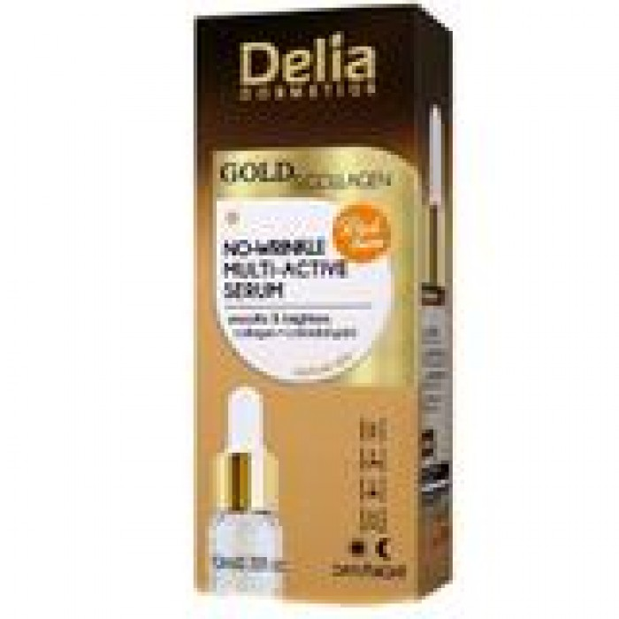 Ser antirid aur si collagen pentru ten matur 10 ml DELIA COSMETICS