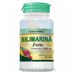 Silimarina Forte 2500 mg 30 tablete Cosmopharm