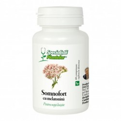 Somnofort cu Melatonina 60 comprimate Specialistii Plantelor DaciaPlant