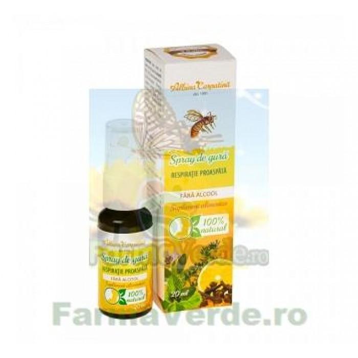 Spray de gura Respiratie Proaspata 20 ml Albina Carpatina Apicola