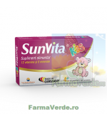 SUNVITA KIDS 12 vitamine si 8 minerale 30 comprimate Sun Wave Pharma