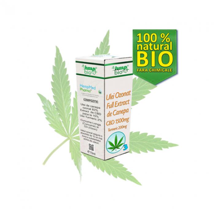 ULEI OZONAT FULL EXTRACT DE CANEPA cu CBD BIO 1500 mg Cannabis sativa HempMed Pharma