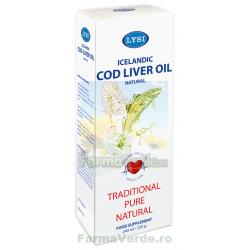 Ulei din Ficat de Cod Natural 240 ml Lysi Saga Sanatate