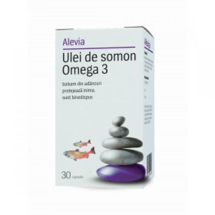 Ulei de somon Omega 3 30 cpr Alevia