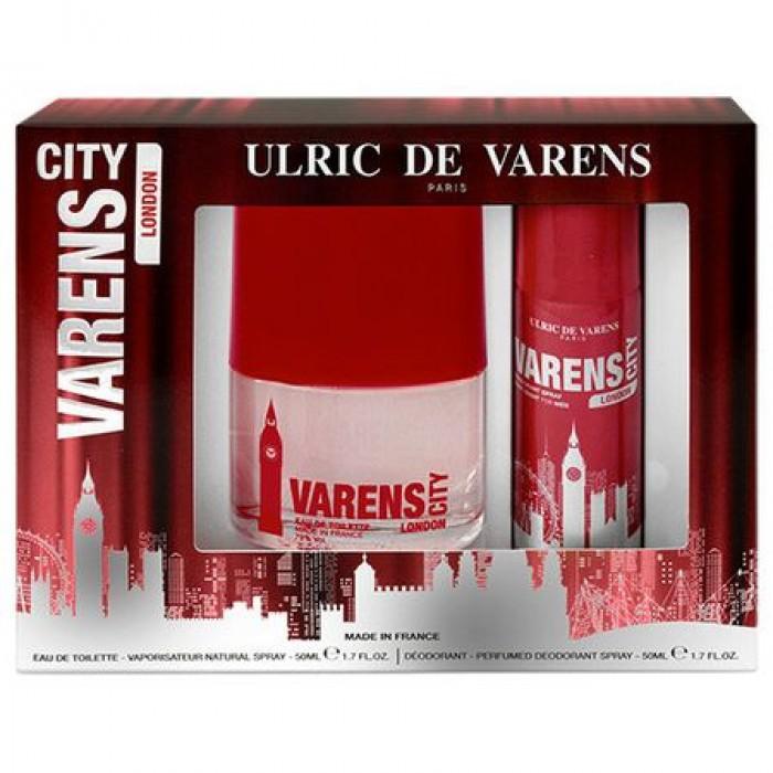 Caseta Cadou Ulric de Varens City London, Barbati,Apa de Parfum 50 ml si Deodorant 50 ml