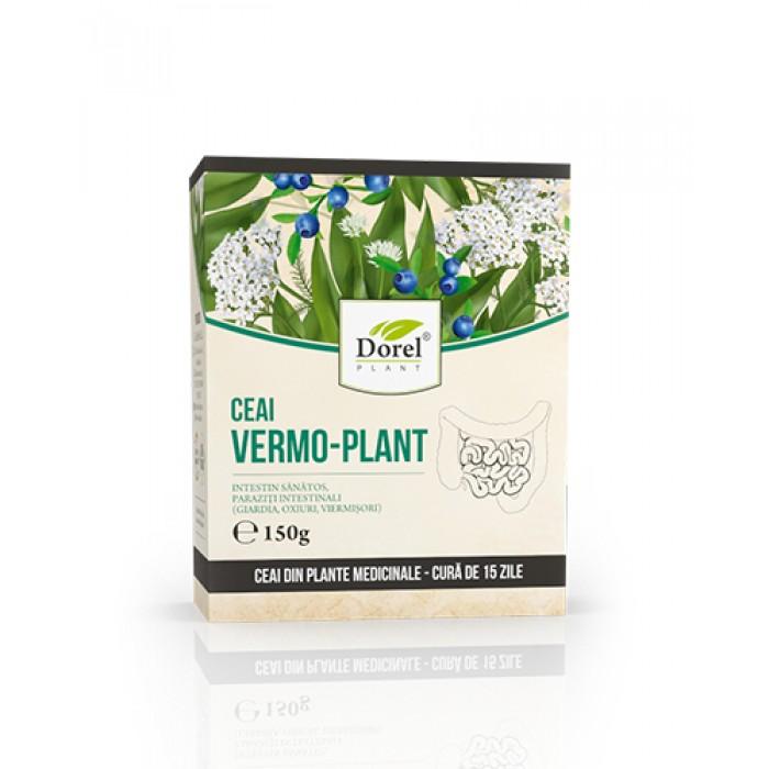 Ceai VermoPlant Paraziti Intestinali Giardia, Oxiuri, Viermisori 150 gr DorelPlant