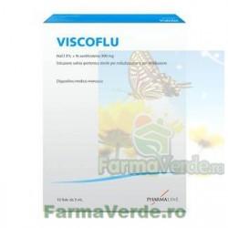 Viscoflu 10 Fiole cu Solutie Salina Hipertonica Sterila Nebulizator PHARMALINE