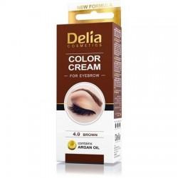 Vopsea Crema coloranta gene sprancene 4.0 maro 15 ml Delia Cosmetics
