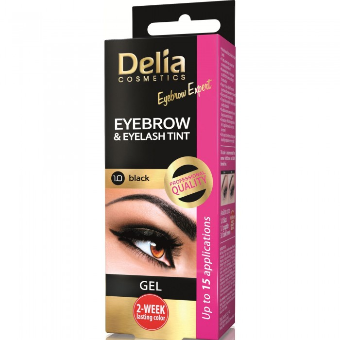 Vopsea Crema coloranta gene sprancene 1.0 negru 15 ml Delia Cosmetics