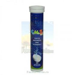 Zdrovit Calciu Magneziu Zinc Vitamina C 20 cpr efervescente
