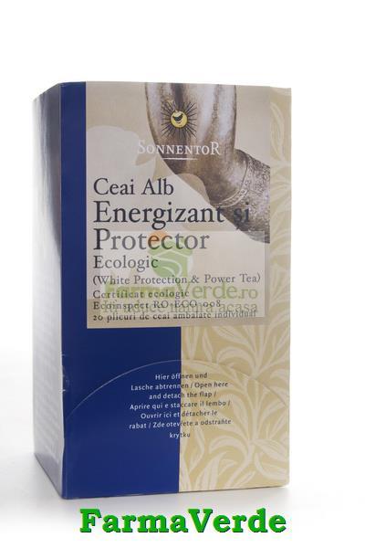 Ceai Alb Energizant si Protector BIO 20 plicuri Sonnentor