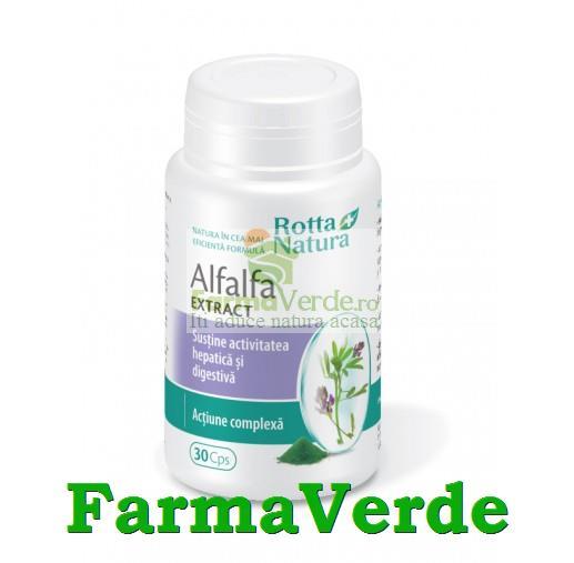 Alfalfa Extract Lucerna Verde 30 Capsule Rotta Natura