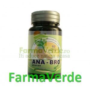 Ana-Bro 500 mg Ananas Enzime 60 capsule Herbavit