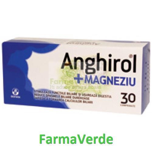 Biofarm Biodigest Anghirol+Magneziu 30 comprimate