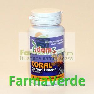 CALCIU CORAL din OKINAWA 1000 mg 30 cps Adams Vision