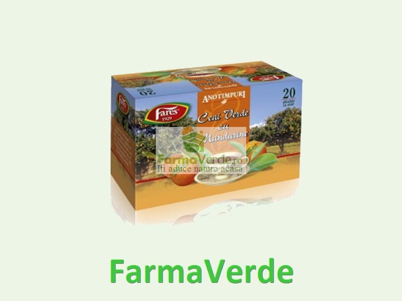 Ceai Anotimpuri Mandarine si Ceai Verde 20 dz Fares