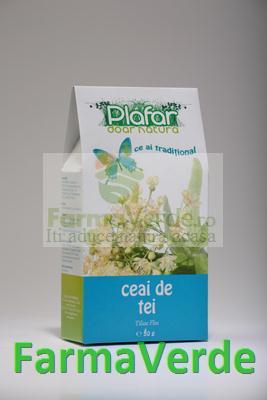 Ceai de Tei Argintiu Flori 50 gr Plafar