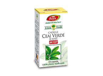 Ceai Verde+Mate Antioxidant 60 capsule Fares Orastie