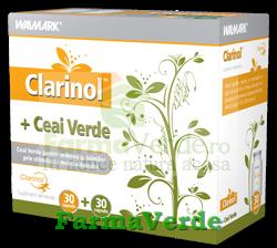 Clarinol+ Ceai Verde 60 cps Walmark