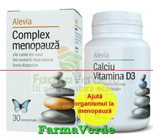 Promotie! Complex menopauza 30 cpr + Calciu vitamina D3 30cpr