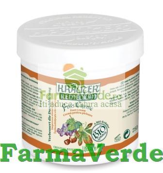Crema pentru picioare cu vita de vie si plante BIO 250gr Krauter