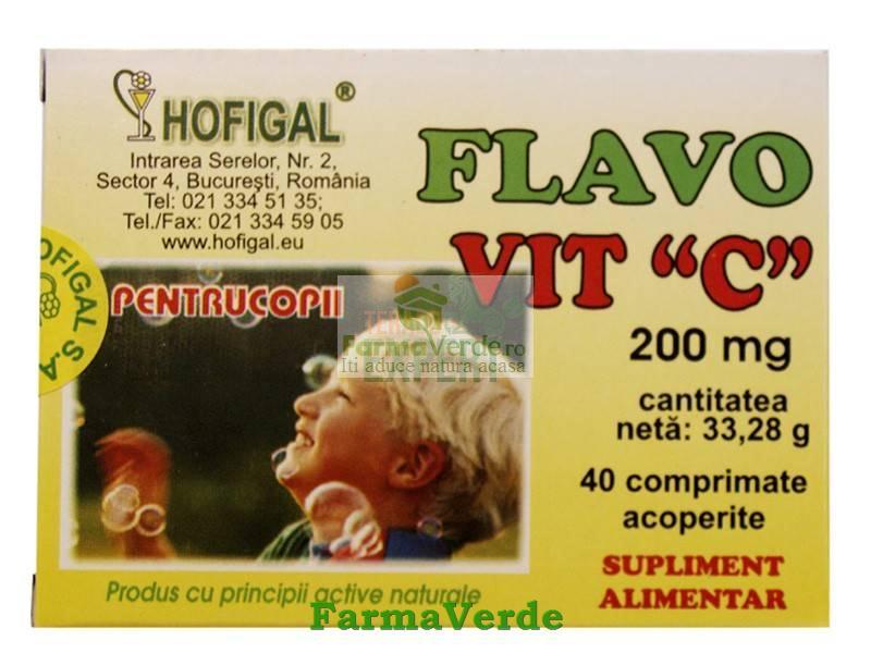 Flavovit C pentru copii 200 mg 40 Cpr Hofigal