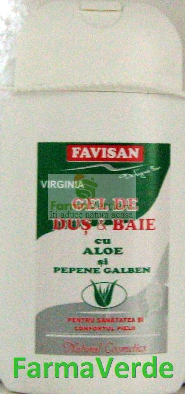 Gel Dus & Baie cu Aloe 300 ml Favisan