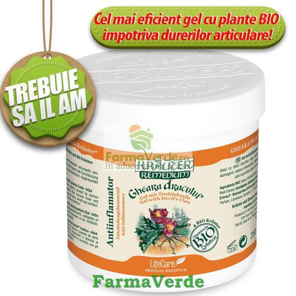 Gel Antiinflamator Gheara Dracului si Plante Bio Krauter 500 ml