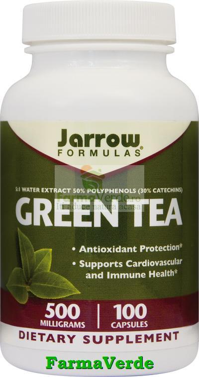 Green Tea Ceai Verde 500 mg 100 Capsule Jarrow Secom