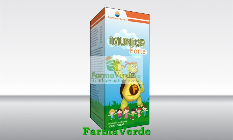 Imunice Forte Sirop 100 ml Imunitate Copii Sun Wave Pharma