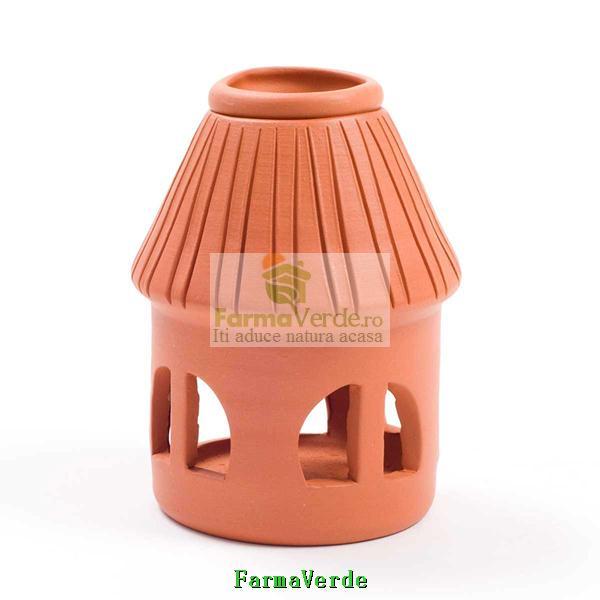 Lampa Candela Casuta Maro Ceramica Vitos