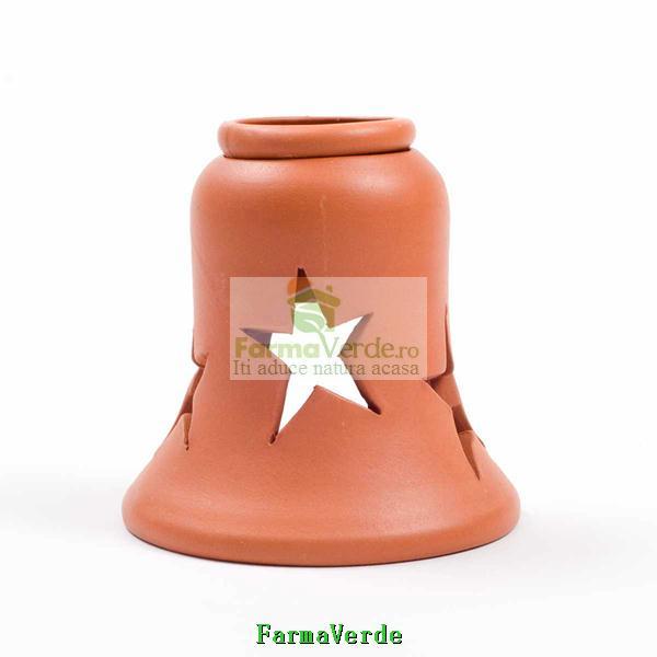 Lampa Candela Clopotel Maro Ceramica Vitos