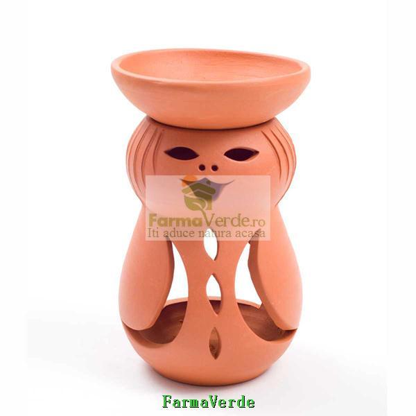 Lampa Candela Fetita Maro Ceramica Vitos