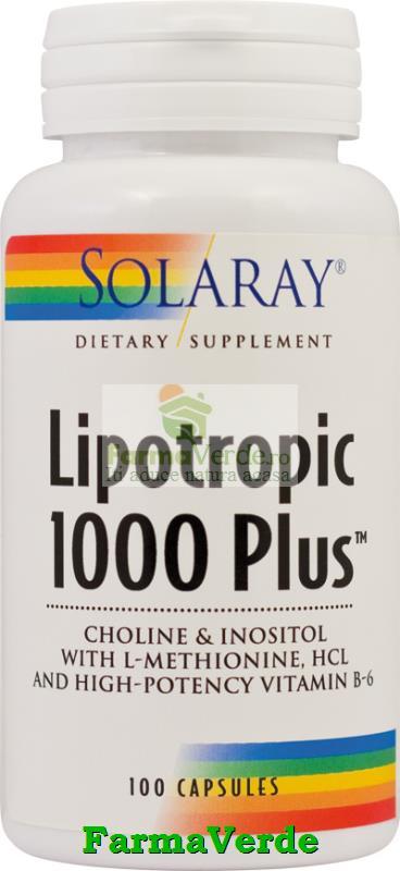 Lipotropic1000 Plus 100 Capsule Slabire-Colesterol Solaray Secom