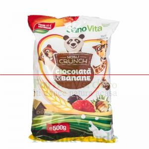 Musli Crunch Banane si Ciocolata Cereale 500 gr SANO VITA