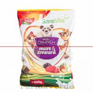 Musli Crunch Mure si Zmeura Cereale 500 gr SANO VITA